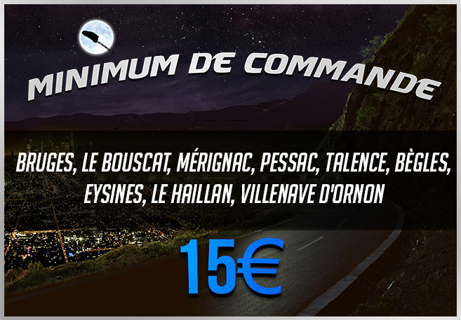 Minimum de Commande Zone Bordeaux